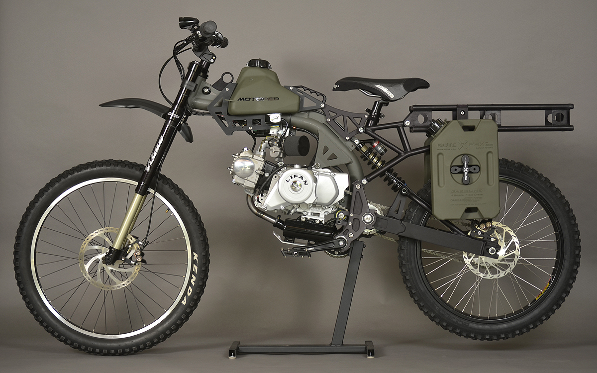 Motoped Builds Ultimate Survival Moped
