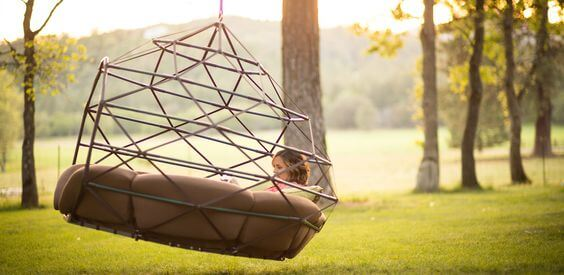Geometric Swing Outdoor Bed