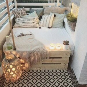 Modern-Rustic Outdoor Bed