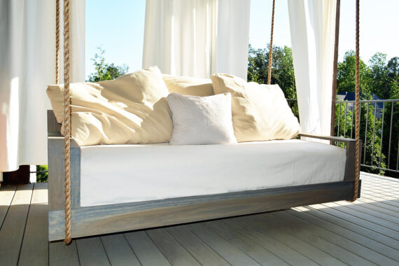 Natural Stain Outdoor Bed