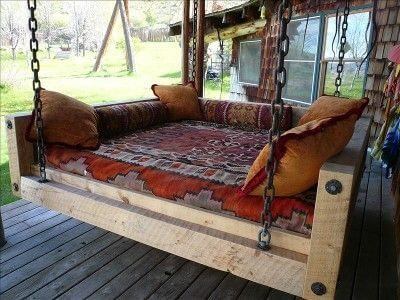 Rustic Chic Outdoor Bed