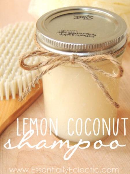 diy lemon coconut shampoo