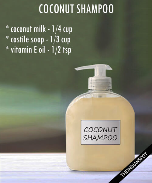 diy organic coconut shampoo