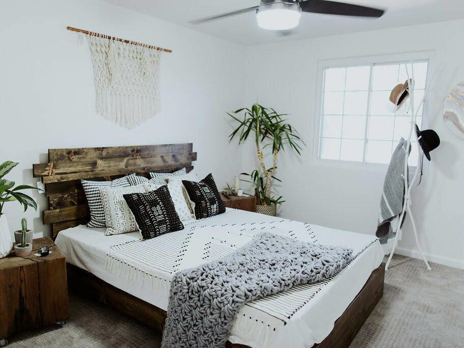 slat system wooden bed frame