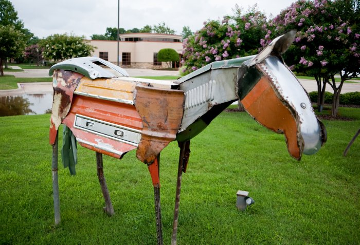 junk car sculpture
