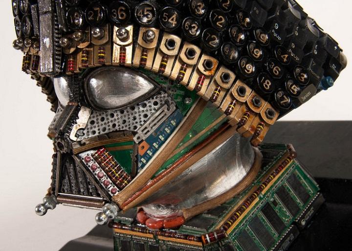 computer junk art