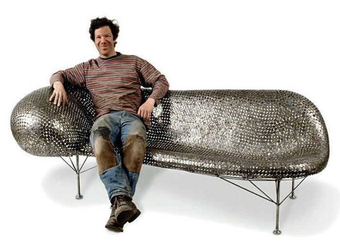 sculpture made from coins