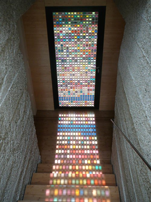 recycled glass window