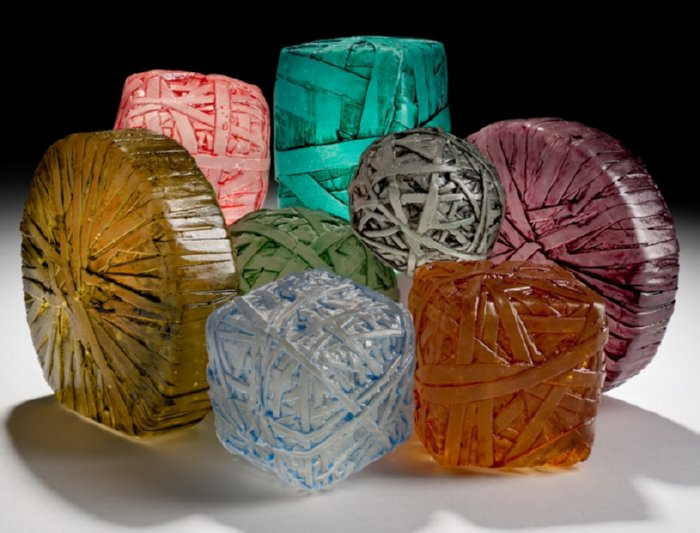 recycled glass sculpture