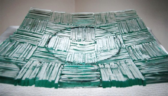 recycled glass dish