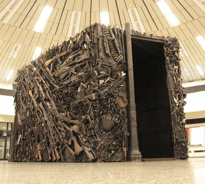 Gun Ammunition sculpture