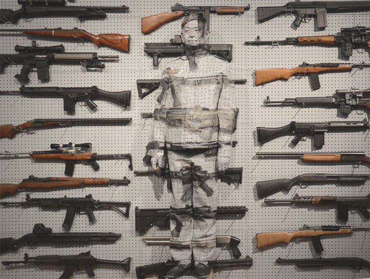 gun reuse as art