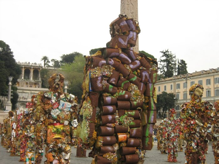 Trash sculpture