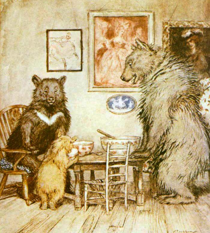 three bears illustrations