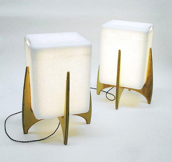 styrofoam lamp