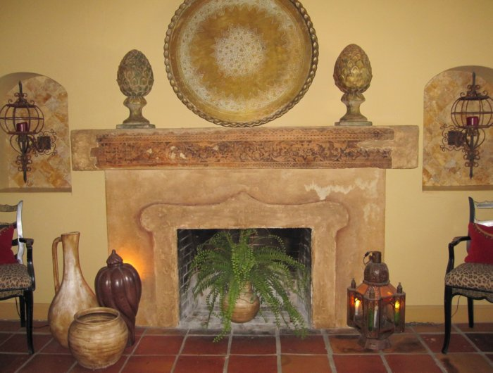 styrofoam fireplace