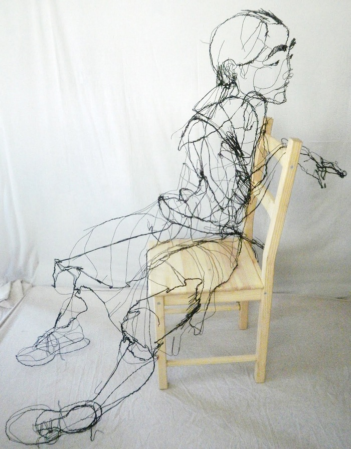 Barbed Wire And Galvanized Wire Sculptures • Insteading