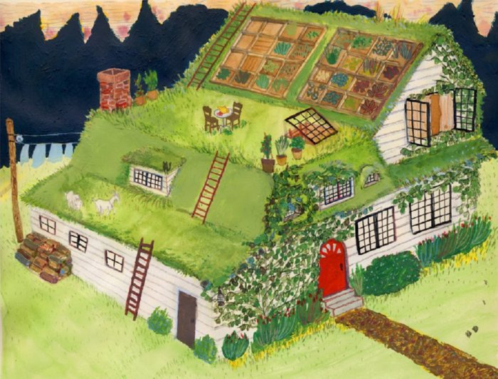 Green Roof Inspiration O Insteading