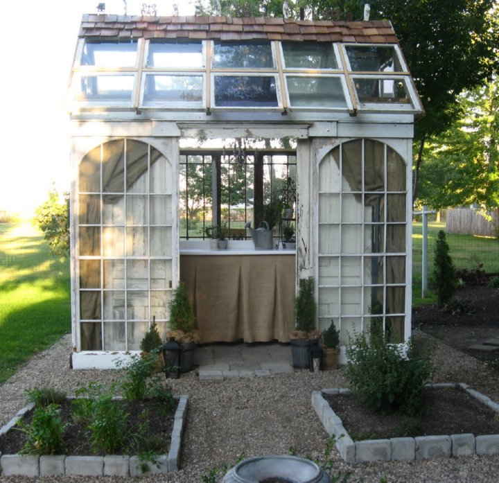 Greenhouses from Old Windows and Doors • Insteading
