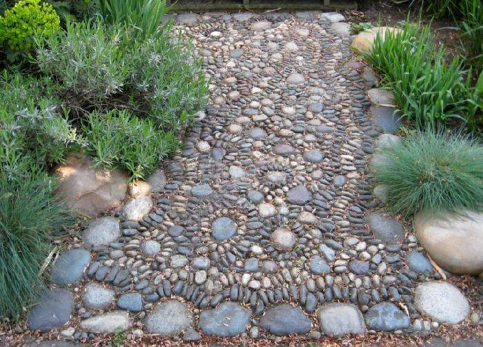 pebble pathway