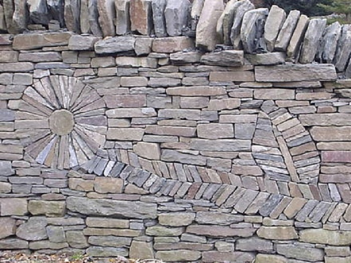 Stone Wall Pattern : The art of dry stack stone wall insteading