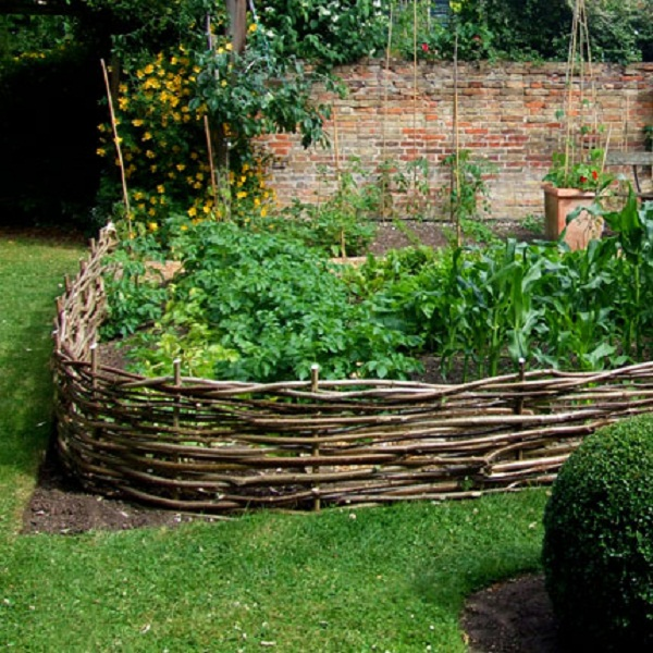Willow Hurdles Raised Beds