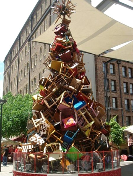 chair christmas tree
