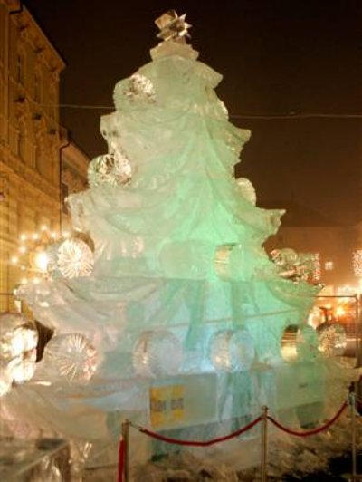 ice christmas tree