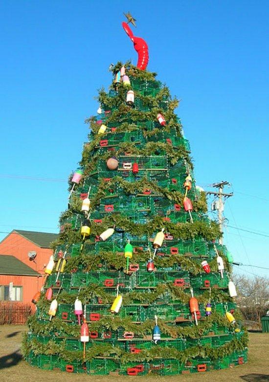 Christmas Tree Made Of Waste