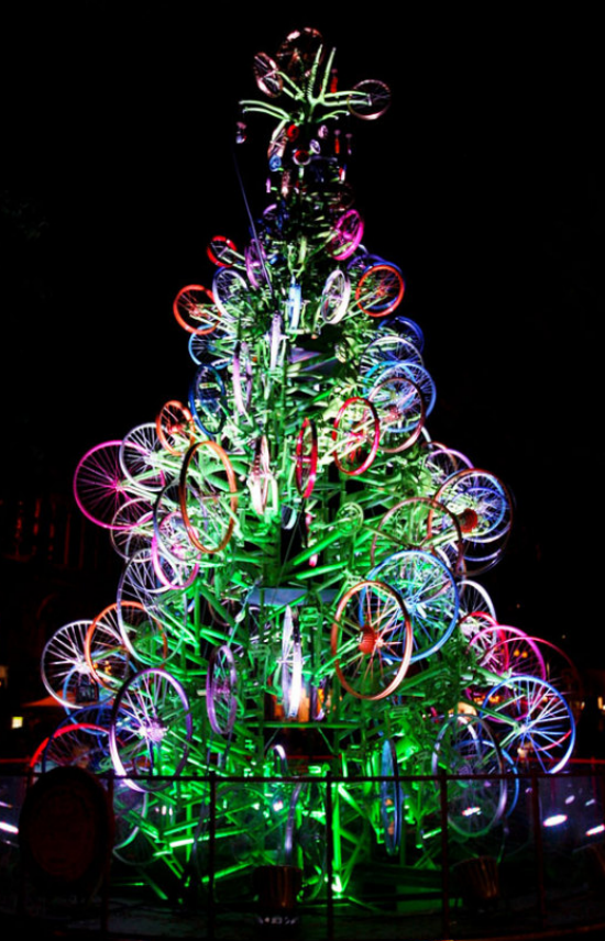 bicycle christmas tree - Try An Eco Friendly Christmas Tree €� Insteading