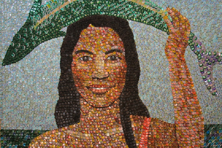 plastic bottle top art