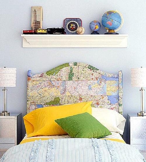 map headboard