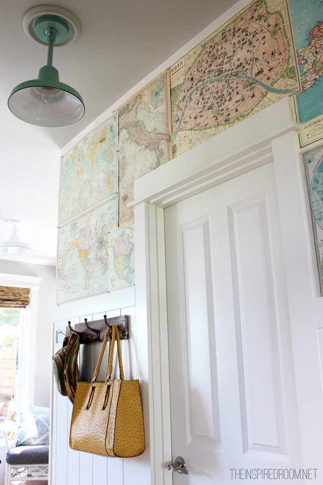 map covered wall