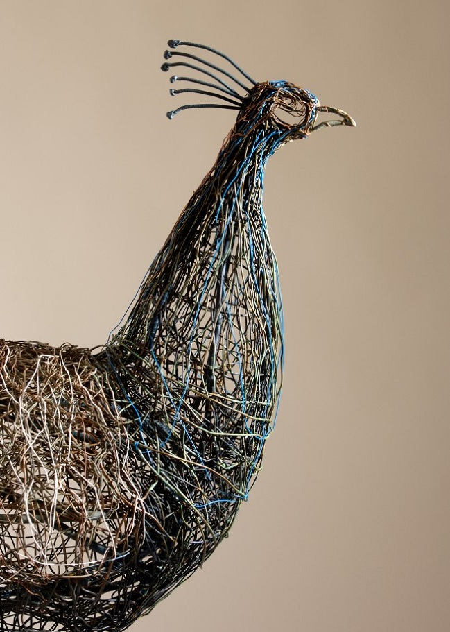 telephone wire sculpture