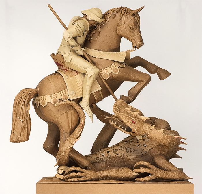 cardboard sculpture
