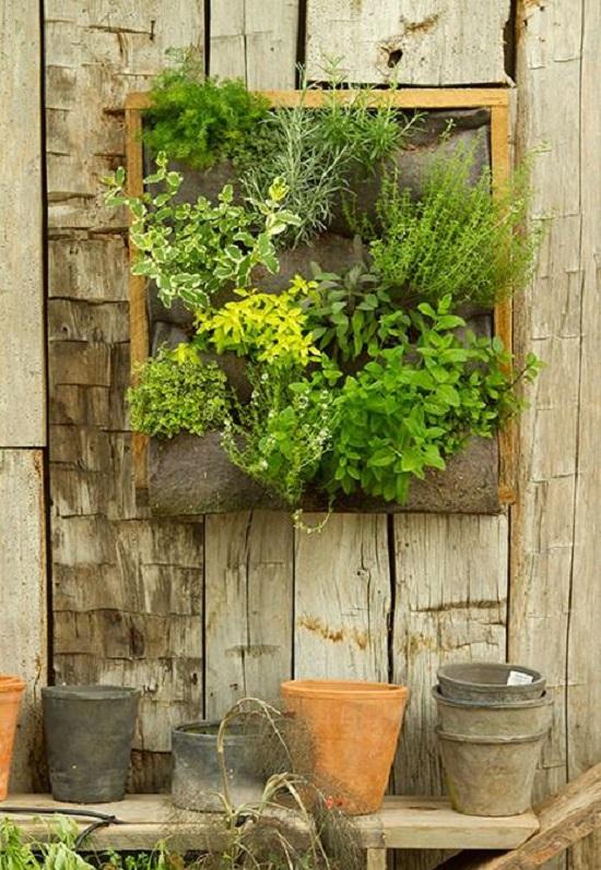 9) Herb Garden From Fiber Felt. Herb Wall
