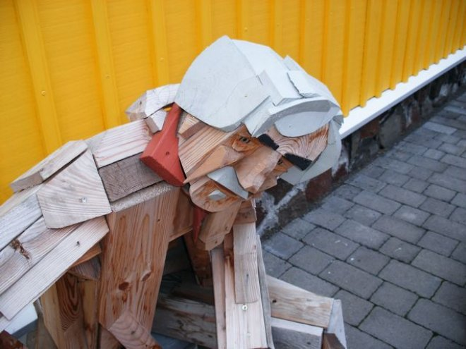 scrap wood sculpture