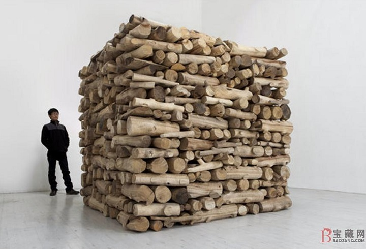 woodpile art