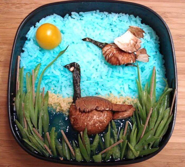 bento-mushroom-geese-egg-yolk-sun